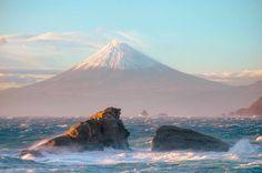 Mont Fuji, Japon vu de la mer
