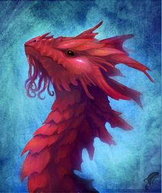 Coral dragon head by Neboveria on deviantART