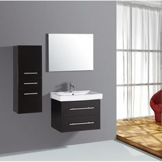 Contemporary Bathroom Wall Mounted Cabinets - Cabinets that are medicine or bathroom cabinets were terms used to refer to a s Wall Hung Bathroom Cabinet, Bathroom Vanity Cabinets, Toilet Vanity, Hanging Cabinet, Vanity Mirrors, Vanity Set, Bathroom Storage, Bathroom Vanity Makeover, Rustic Bathroom Vanities