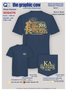 Kappa Delta Fall Formal Typography Design