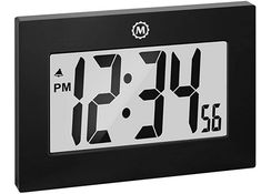Marathon Large Digital Wall Clock with Fold-Out Table Stand. Size is 9 inches with Big 3.25 Inch Digits - Batteries Included - CL030064BK (Black) Desk Clock, Flip Clock, Digital Wall, Digital Alarm Clock, Fold Out Table, Best Wall Clocks, Timer Clock, Color Names
