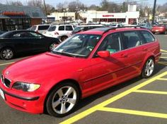 2004 BMW 325iT Wagon. Lovin' the Japan Red, but has to be a stick.