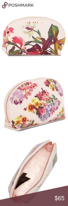 "💐ARRIVED - Ted Baker Lost Gardens Cosmetic Case💐 Arrived - NWT! Sold out everywhere! Background is nude pink! Measures 4"" x 6.5"" wide (2.5"" deep). Make this Christmas special with this one of a kind piece!!! Ted Baker London Bags Cosmetic Bags & Cases"