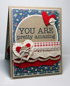 Stamping A Latte: You Are Pretty Amazing {June SFYTT}! ... also a lovely design and color for a patriotic card