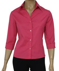 Camisa Social Feminina Lisa Manga 3/4 :: Netroupas Moda Executiva Office Outfits, Ideias Fashion, Womens Fashion, Sweaters, Rosa Pink, Dresses, Blazers, Lisa, Office Style