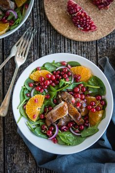 Duck, Orange and Pomegranate Salad
