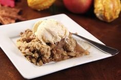 Apple Crisp Recipe with Oat Topping
