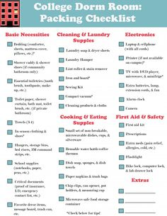 Complete Dorm Room Ng Checklist Tips