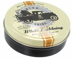 www.brokencherry.com #pomade #rockabilly #barber #lighthold #scentedpomade #oilbased  White Lightning Light Pomade  $11.00