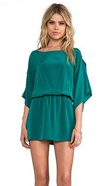 Karina Grimaldi Pampita Solid Mini Dress in Emerald   REVOLVE