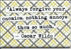 Oscar Wilde Enemies Quote Magnet by chicalookate on Etsy, $ 4.00