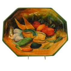 Rustica Gift & Pottery Talavera & Mayolica artisan-crafted dinnerware, gift & home decor: Enjoy the Verdura Mayolica serving dish.
