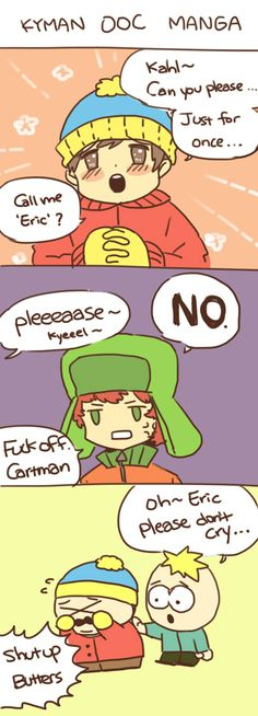 Cartman x Kyle, & Butters ~ OOC Manga
