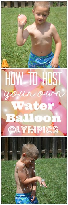 How to host your own Water Balloon Olympics via createcraftlove.com