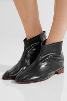 Heel measures approximately 20mm/ 1 inch Black leather Zip fastening along back Made in ItalySmall to size. See Size & Fit notes.