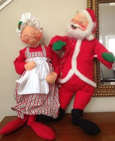 Vintage Annalee Christmas dolls (These are from eBay.) | Things I ...