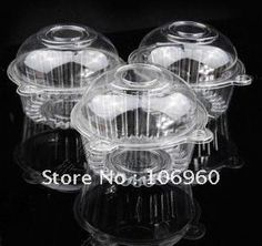Wholesale 100PCS/LOT Plastic Single Individual Cupcake Muffin Dome Holders Cases Boxes Cups Pods Free Shipping on AliExpress.com. $23.50