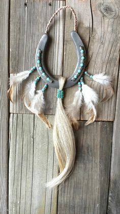 A photo of our popular Native American inspired decorated horseshoe!Decorated Lucky Horseshoe Gifts, Printed Photo Tumblers by EECustomHorseShoes Horseshoe Projects, Horseshoe Crafts, Horseshoe Art, Lucky Horseshoe, Southwest Decor, Southwestern Decorating, Fun Crafts, Arts And Crafts, Horse Hair Jewelry