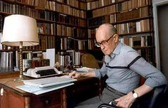 Carlos Drummond de Andrade. The poet in his office