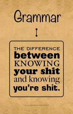 Grammar by Pinky and the Brain