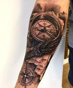 80 photos of male arm tattoos Forarm Tattoos, Forearm Sleeve Tattoos, Map Tattoos, Best Sleeve Tattoos, Cool Tattoos, Tattoo Fonts, Half Sleeve Tattoos Designs, Tattoo Designs Men, Bussola Tattoo