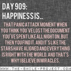 Day 909: Happiness is.. www.the-smile-project.com #FINALSWEEK