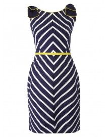 151 - Bow Me Up Baby - Navy Wide Stripe