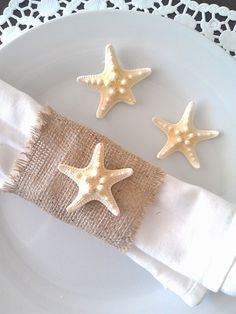 Handmade Burlap napkin holder perfect for your rustic wedding, beach wedding, bar or bistro. Add some style and texture to your table whether