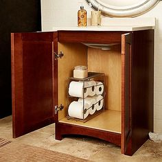 how to make under cabinet paper towel holder - Google Search