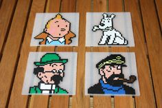 Hey, I found this really awesome Etsy listing at https://www.etsy.com/listing/184269162/coasters-tintin-hama-beads-perler-set-of