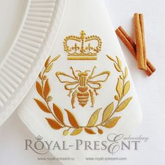 Machine Embroidery Design - Royal Bee