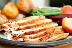 Slow Cooker Herb Crusted Turkey Breast Recipe [from Katie: Couldn't find a bone-in breast, so I used a boneless roast. Still worked great! Crock Pot Recipes, Easy Turkey Recipes, Slow Cooker Recipes, Cooking Recipes, Healthy Recipes, Healthy Meals, Protein Dinners, Entree Recipes, Healthy Options