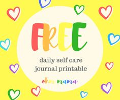 Free Daily Self Care Journal Page Printable Journal Pages Printable, Creative Journal, Writing Quotes, You Deserve, Take Care Of Yourself, New Friends, Self Care, Followers, Wisdom