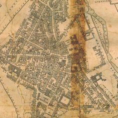 A map of São Paulo in 1881, by then a city with 40,000 people only.