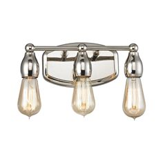 "Bathroom Lighting Fixtures Polished Nickel kichler 5052ni brushed nickel lege 15.25"" wide 2-bulb bathroom"