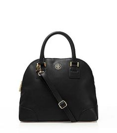addec72fe58f Tory Burch Robinson Small Dome Satchel Cute Handbags, Best Handbags,  Leather Bag Design,