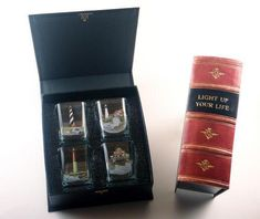 This fun Lighthouse Shot Glass Book Set features a detailed lighthouse design by artist and conservationist Richard E. Lighthouse Gifts, Bird Artists, Glass Book, Shot Glass Set, Book Gifts, Light Up, Unique Gifts, Shots, Products