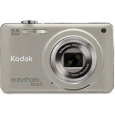"Kodak M5370 Pewter Silver 16MP Digital Camera w/ 5x Optical Zoom, 2.7"" LCD Display, Kodak Share Button"