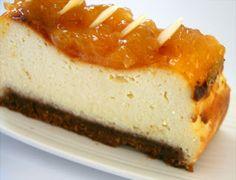 Fentdetutto: Pastel de queso de cabra al limón con mermelada ca...