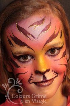 tijger schmink meisje