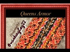This design uses a nine bar loom with adjustable peg positions. *Zuzu*   Rainbow Loom Queens Armor Bracelet Tutorial/How To