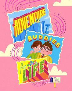 "Pixar Cane Frederiskson Cartoon Movie 38/""x24/"" Poster 013 UP"