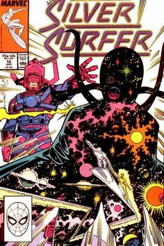 Continued from last issue... The Silver Surfer is brought back from the brink of death by...