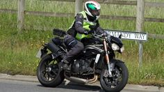 2016 Triumph Speed Triple spotted testing
