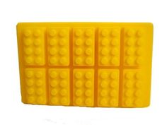 10 lego brick silicone ice cube mold. Perfect for making lego styled ice for your party goers and friends.