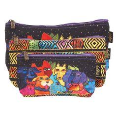 1d98a696549 ... Laurel Burch Studios. See more. Canine Clan Stacked 3 in 1 Cosmetic Bag  Set bag Sun'N'Sand -