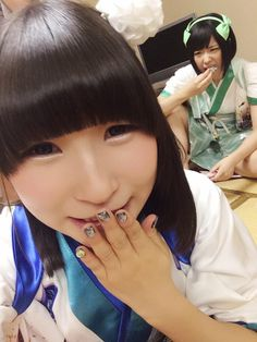 """藤咲彩音 Fujisaki Ayane (""""Pinky"""") and 夢眠ねむ Yumemi Nemu of Dempagumi.inc / でんぱ組.inc"""