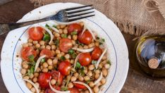 Chickpea Salad with Tomatoes and Chipotle Summer Tomato, Chickpea Salad, Bean Salad, Chipotle, Orzo, Lentils, Hummus, Spices, Beans