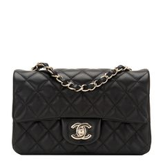 #Chanel Black Quilted Lambskin Rectangular Mini Classic Flap #Bag