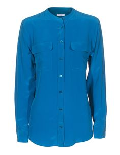 #Bluse #peacock #Equipment  Shop here: http://www.fashion-square-online-mall.de/products/slim-signature-collarless-tile